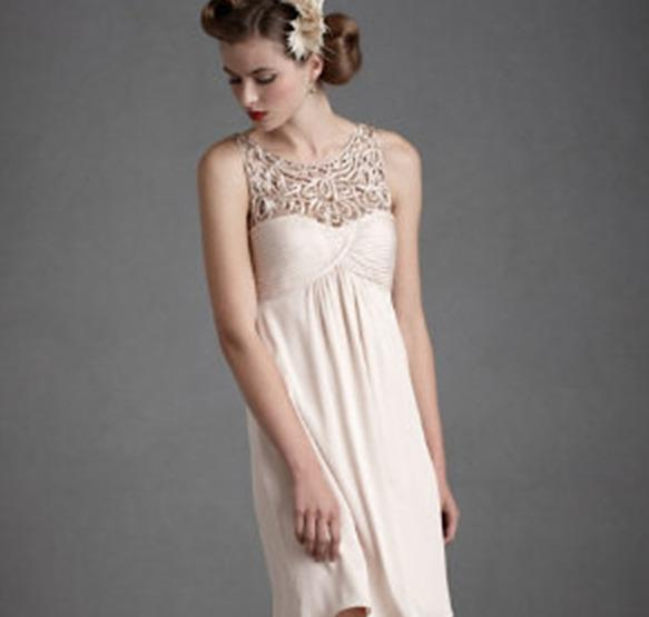 The Tracery Dress from BHLDN.com would be a good choice for a 20something bridesmaid, but probably not a 12 year old.