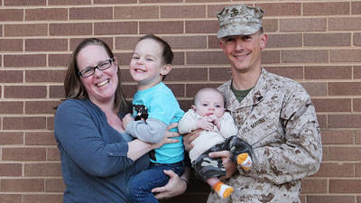 The Kelber family, shortly after Sgt. Judah Kelber returned to Washington, D.C., after a deployment to Afghanistan and a few days of out-processing in North Carolina.