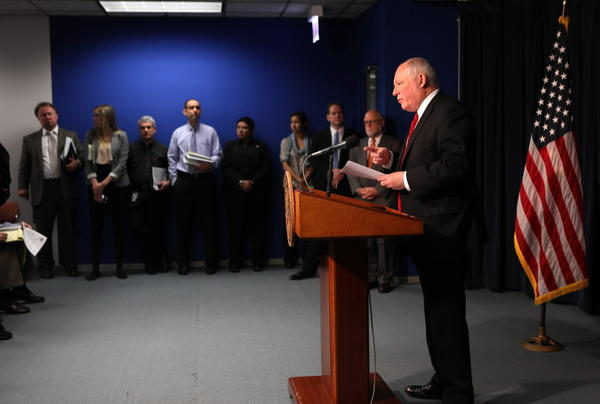 Gov. Pat Quinn, seen here last month, warned lawmakers against being distracted by a casino gambling plan today.