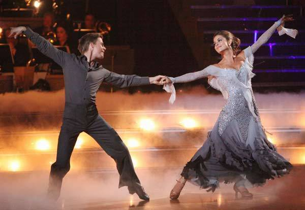 "Maria Menounos and Derek Hough compete on ""Dancing With the Stars."""