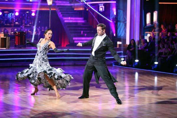 "Cheryl Burke and William Levy compete on ""Dancing With the Stars."""