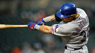 Texas Rangers slugger Josh Hamilton had 10 homers coming into Tuesday's game, including one Monday night.