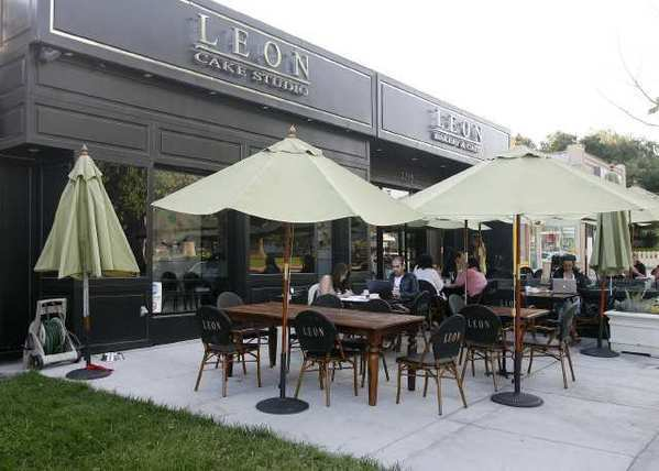 Leon Cafe & Bakery in Glendale. The city is considering multiple options for restaurant outdoor dining fees.