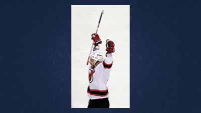 New Jersey Devils' Ilya Kovalchuk reacts after scoring a goal against the Philadelphia Flyers Tuesday night in Philadelphia.