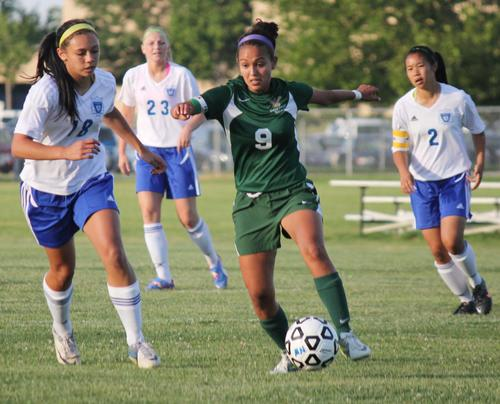 Kiley Burris knocked in the game-winning goal as Bishop Carroll defeated Wichita Northwest 1-0 to claim a share of the Greater Wichita Athletic League title.