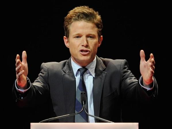 Billy Bush hosts the CinemaCon awards ceremony at The Colosseum at Caesars Palace during CinemaCon April 26, 2012 in Las Vegas, Nevada.