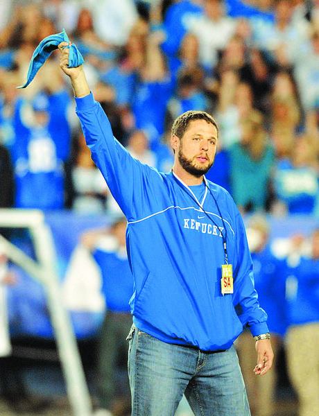 Former Kentucky tight end Jacob Tamme, shown at a Kentucky game last season, signed as a free agent with the Denver Broncos, and Champ Kelly, a former Wildcat and the Broncos' assistant director of pro per. He is a great person and great teammate, the kind of person you want on your roster, Kelly said.