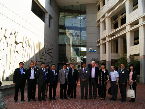 Chinese and Glendale officials at the City Hall complex on Tuesday, May 9.