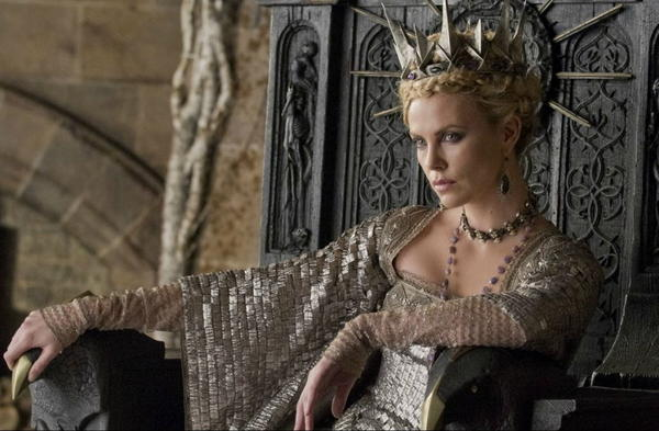 "Charlize Theron stars in ""Snow White and the Huntsman,"" due out this summer."