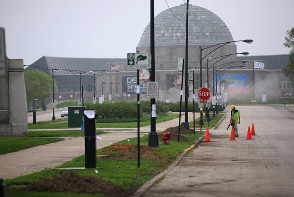 Solidarity Drive near the Adler Planetarium shown on May 4.