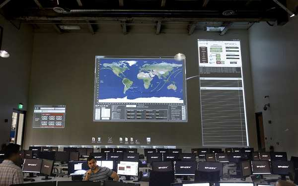 Photo of SpaceX mission control