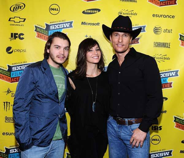 "Actor Emile Hirsch, actress Gina Gershon and actor Matthew McConaughey attend the U.S. Premiere of "" Killer Joe"" during the 2012 SXSW Music, Film + Interactive Festival at the Paramount Theatre in Austin, TX."