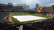 Tonight's Orioles game against the Rangers at Camden Yards has been postponed due to inclement weather.