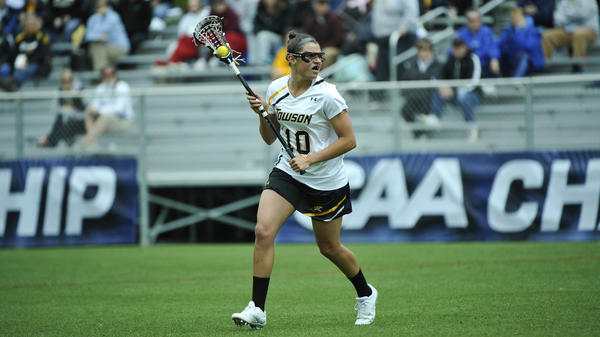 Towson midfielder Kelly Custer played for Penn State coach Missy Doherty during Doherty's last season as the Tigers' coach. The schools will face each other in the NCAA tournament Saturday.