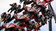 "Dozens of faceless riders got to experience the new X Flight thrill ride at Six Flags Great America before it will debut to the public next week, with only the sounds of sloshing water heard amid the quiet roar of this unusual ""wing coaster."""