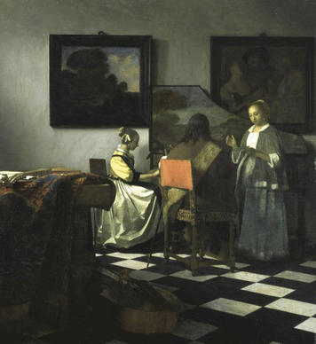 One of only three dozen known works by Vermeer in the world, this was Isabella Stewart Gardner's first major acquisition. She placed it on a table where she often placed her most prized paintings, with a chair in front of it to invite viewing.