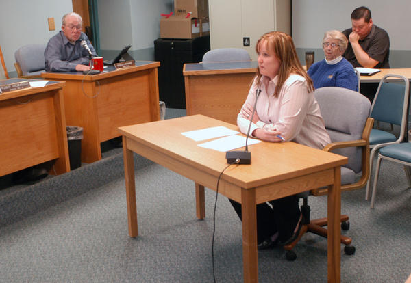 Shaynee Fanara, Charlevoix County's chief assistant prosecutor, appears Wednesday before county commissioners to again speak about her desire to continue working for the county.
