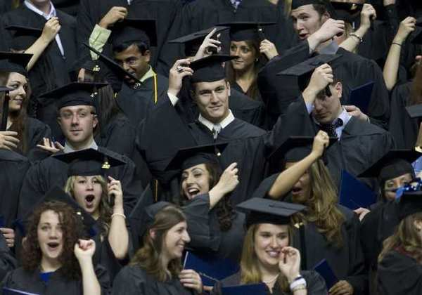 They're happy now.... A new report from Rutgers University found that half of workers who graduated after 2006 don't have a full-time job.