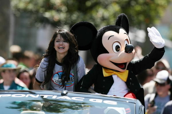 Singer/actress Selena Gomez was one of the Disney Channel stars appearing in a parade at Disney's Hollywood Studios in 2008.