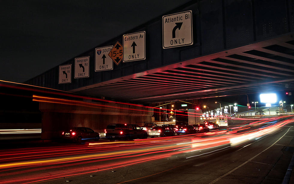 Caption: In Commerce, the junction of Atlantic Boulevard, Telegraph Road and Eastern Avenue is very much an auto-centric roadway. (Luis Sinco / Los Angeles Times)