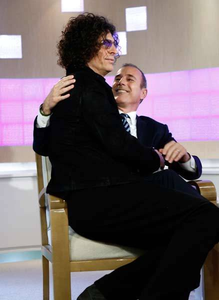 "Howard Stern and Matt Lauer appear on NBC News' ""Today"" show."