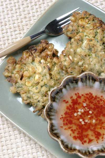 One version of corn fritters