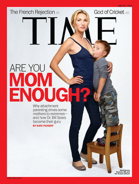 Time magazine breast-feeding cover provokes strong reaction - Los ...