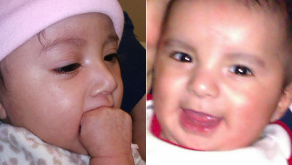 Giselle, left, and Julian Romero. The 5-month-old twins were found dead on May 10, 2012.