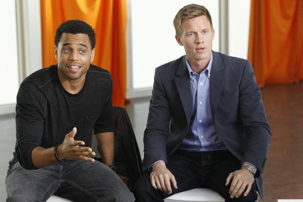 "Michael Ealy (left) and Warren Kole plays bickering detective partners in USA's ""Common Law."""