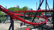 It's the first major roller coaster to hit the park in nine years, and it's something most have never done before.