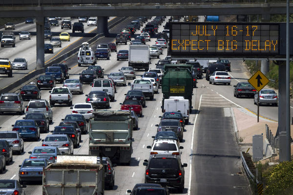 Even on good days, the 405 Freeway experiences bumper-to-bumper traffic