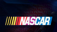 Two crew chiefs for Penske Racing in the NASCAR Nationwide Series were placed on probation and drew $10,000 fines Tuesday for violations found last weekend at Talladega Superspeedway.