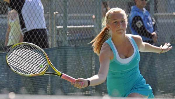 Gabby Jensen and her Petoskey High School girls tennis teams will host a quad on Saturday, one of four prep tournaments involving Northmen teams scheduled for Petoskey on Saturday.