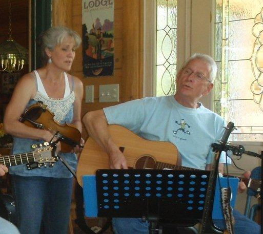 Kelly Shively and Norm Hausler will perform this weekend at the Back Porch Coffeehouse in Charlevoix.