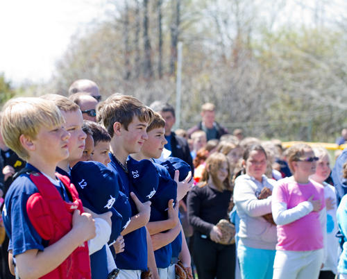 It was an exciting opening day at Carpenter Field in Charlevoix.