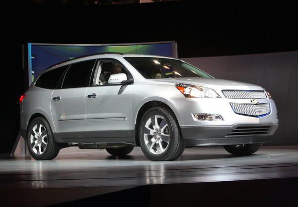 General Motors unveils the 2009 Chevrolet Traverse at the Chicago Auto Show