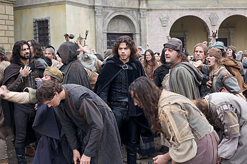 Cesare (Francois Arnaud) witnesses the zealot fervor of Friar Savonarola's followers in Florence.