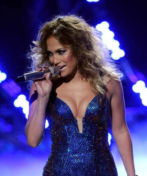 "Jennifer Lopez performs her new song ""Dance Again"" on ""American Idol"" on May 10."