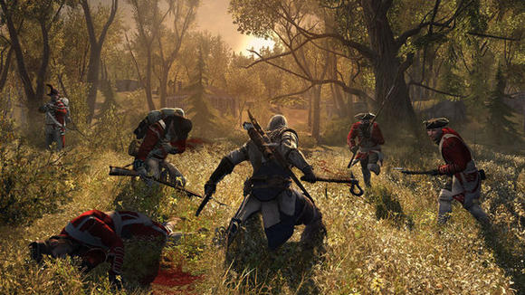 """Assassin's Creed III"" gameplay shot."