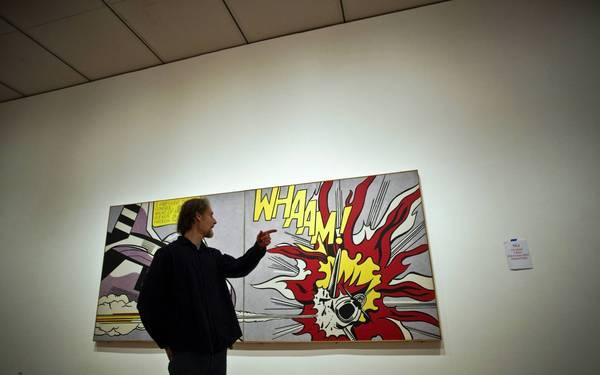 Hilary Barta, comic book artist and illustrator from Chicago is touring the show of pop art master Roy Lichtenstein at the Art Institute of Chicago.