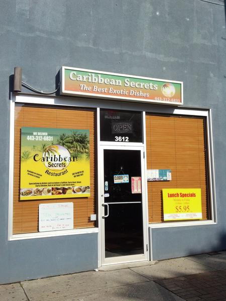 An exterior shot of Caribbean Secrets, the restaurant being sued by Ocean City's Seacrets for trademark infringement.