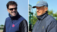 A steady, cool wind swept across the track at the Fair Hill Training Center Friday as two trainers prepared colts to run in next Saturday's 137<sup>th</sup> Preakness.