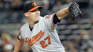 The Orioles have placed right-handed reliever Matt Lindstrom on the disabled list with a right middle finger injury in order to make space on the 25-man roster for tonight's starter, left-hander Dana Eveland.