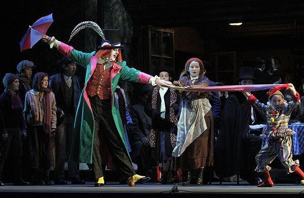 "The ensemble in L.A. Opera's ""La Boheme"" at the Dorothy Chandler Pavilion."