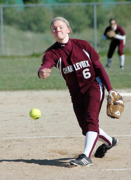 Katie Hybl was the winning pitcher Friday in game two as Charlevoix and Boyne City split a Lake Michigan Conference softball doubleheader.