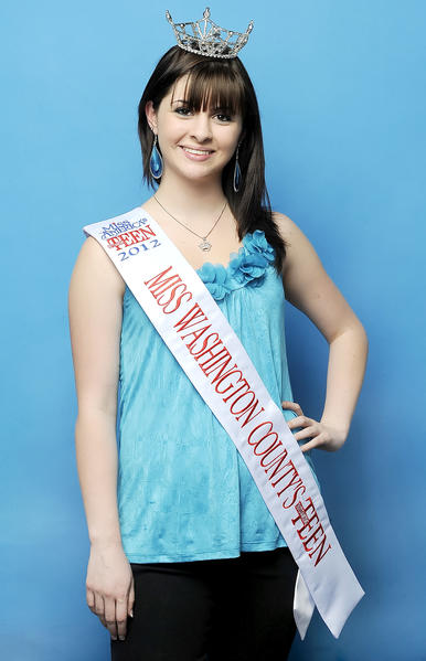 Megan Kiley, 2012 Miss Washington County Outstanding Teen, will compete in June at the state level.