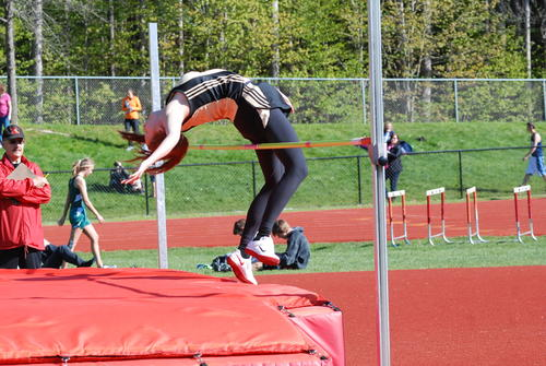 Pellston's Tayler Friend in the high jump.