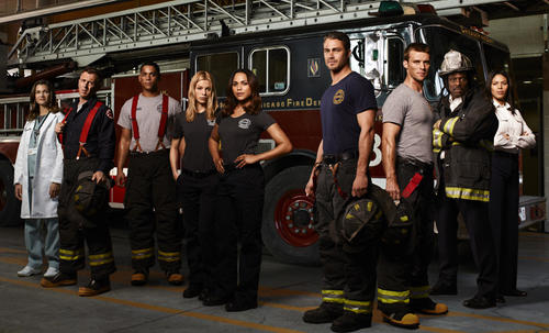"<br> <b> Who's in it?</b> Teri Reeves as Hallie (from left), David Eigenberg as Christopher Hermann, Charlie Barnett as Peter Mills, Lauren German as Leslie Shay, Monica Raymund as Gabriella Dawson, Taylor Kinney as Kelly Severide, Jesse Spencer as Matthew Casey, Eamonn Walker as Battalion Chief Walter Boden, Merle Dandridge as Kay Fitori. <br> <b> What it's about:</b> The members of Chicago Firehouse 51 put their lives on the line every day, and we're getting a look at their professional and personal lives in this drama Dick Wolf (""Law & Order""), Derek Haas (""3:10 to Yuma""), Michael Brandt (""3:10 to Yuma""), Peter Jankowski (""Law & Order"") and Danielle Gelber. <br> <b> How long before I bail?</b> I'm sure it won't be as ground-breaking as ""Rescue Me,"" but with Kinney (""The Vampire Diaries"") and Spencer (""House M.D."") together and a Chicago setting, I'm all in for the full run."