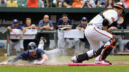 The Orioles had a chance to earn their first three-game sweep of the Rays at Camden Yards since 2007 on Sunday afternoon. But more importantly, they could have gone up three games on division rival Tampa Bay — a monumental accomplishment considering the Rays came to Baltimore on Friday tied with the Orioles atop the American League East standings.