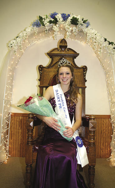 Danae Oliver of State Line. Pa., is the newly crowned 2012-13 Franklin County (Pa.) Dairy Princess.